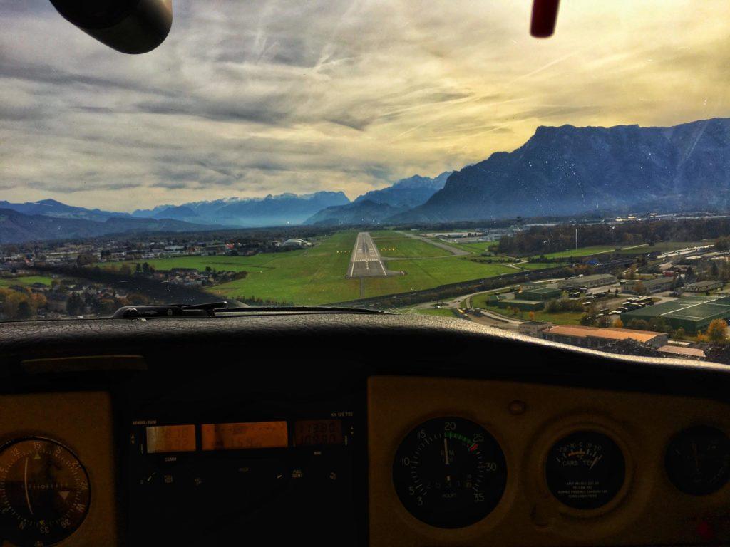 Landeanflug Salzburg